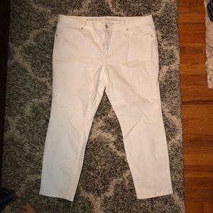 Ava & Viv Jeans - Ava & Viv white cropped jeggings 18W